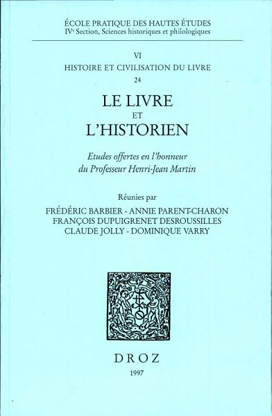 Download Le Livre et l historien Book