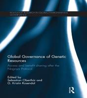 Global Governance of Genetic Resources PDF