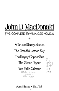 Five Complete Travis McGee Novels
