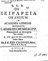 De manuum elevatione orantium