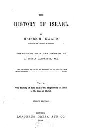 The History of Israel: Volume 5