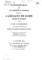Pantogramma ou vue descriptive generale de la campagne de Rome dessine et explique par F. CH. L. Sickler D. a l'usage des voyageurs ...