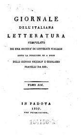 Giornale dell'Italiana letteratura: Volume 19