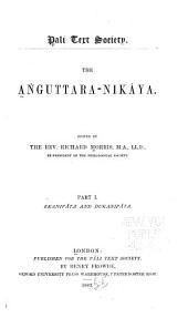 The Aṅguttara-Nikāya: Ekanipâta and Dukanipâta, Volume 1