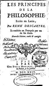 Les principes de la philosophie: écrits en latin