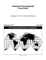 Potassium Permanganate from China PDF