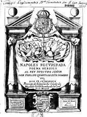 Poema heroico, Napoles recuperada por el rey Don Alonso, que dedica... Don Francisco de Borja, principe de Esquilache...
