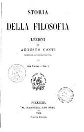 Storia della filosofia lezioni di Augusto Conti: Volume 1