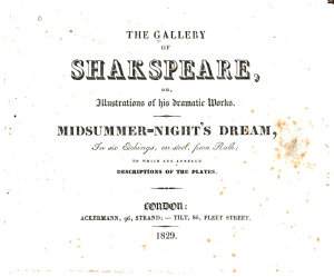 The Gallery of Shakspeare, Or, Illustrations of His Dramatic Works