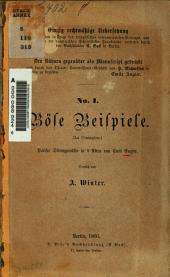 Böse Beispiele (La Contagion): Pariser Sittengemälde in 5 Akten