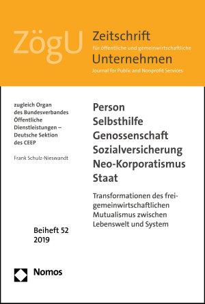Person   Selbsthilfe   Genossenschaft   Sozialversicherung   Neo Korporatismus   Staat PDF