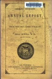 Annual Report of Health Officer of the City and County of San Francisco