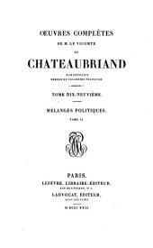 Oeuvres complètes de M. le vicomte de Chateaubriand: Mélanges littéraires