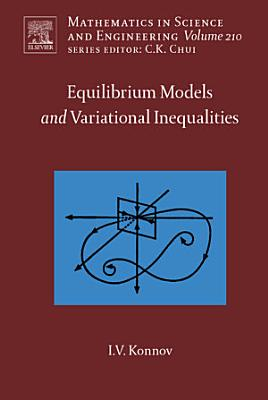 Equilibrium Models and Variational Inequalities