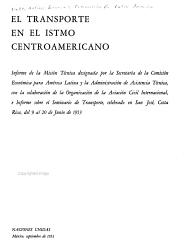El transporte en el Istmo Centroamericano PDF