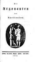 Die Argonauten des Apollonius PDF