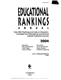 Educational Rankings Annual 2004 Book