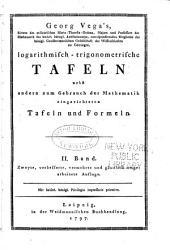 Tabulae logarithmico-trigonometricae: Volume 2