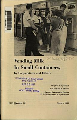 Vending Milk in Small Containers  by Cooperatives and Others