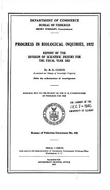 Progress in Biological Inquiries  1922 PDF
