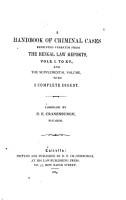 Handbook of Criminal Cases PDF