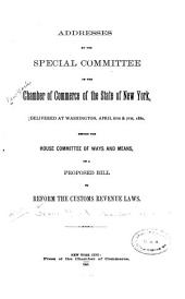 Address by the Special Committee of the Chamber of Commerce of the State of New York