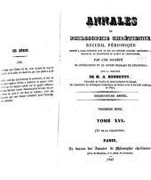 Annales de philosophie chrétienne: Volume35