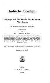 Indische Studien, herausg. von A. Weber: Volume 15