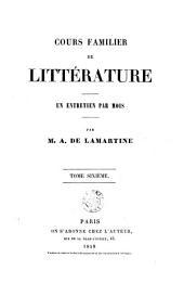 Cours familier de littérature: une entretien par mois, Volume6
