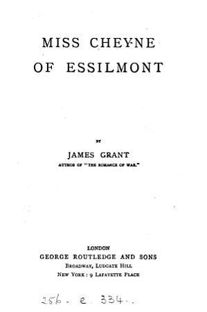Miss Cheyne of Essilmont PDF