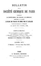 Bulletin de la Société chimique de Paris: Volume24