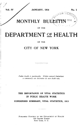 Monthly Bulletin of the Department of Health in the City of New York: Volume 4