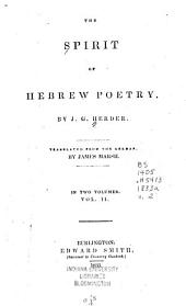 The Spirit of Hebrew Poetry: Volume 2