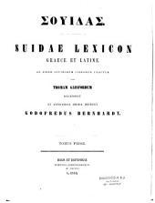Suidae Lexicon, Graece et Latine