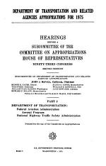 Department of Transportation and Related Agencies Appropriations for 1975