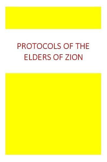 Protocols of the Elders of Zion PDF