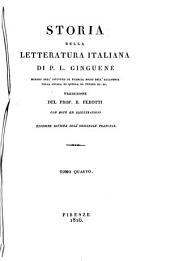 Storia della letteratura italiana di P.L. Ginguené ... Traduzione del prof. B. Perotti con note ed illustrazioni. Tomo primo [-duodecimo]: 4