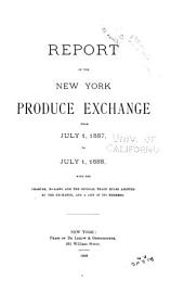 Report of the New York Produce Exchange