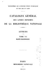 Catalogue général des livres imprimés de la Bibliothèque nationale: Auteurs, Volume7