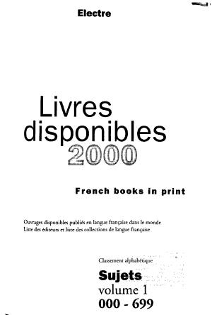 Les Livres disponibles PDF