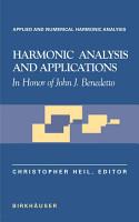 Harmonic Analysis and Applications PDF