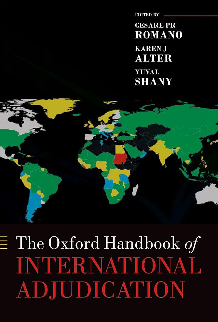 The Oxford Handbook of International Adjudication