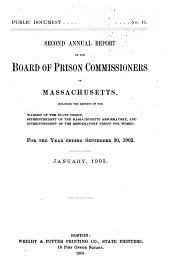 First[-fifteenth] Annual Report of the Board of Prison Commissioners of Massachusetts ..: 1901-1902