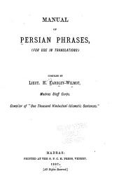 Manual of Persian Phrases for Use in Translations