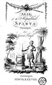Agis of De republiek Sparta: treurspel