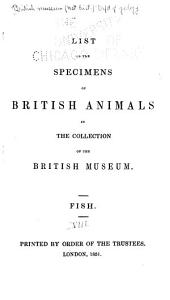 List of the specimens of British animals in the collection of the British Museum ...