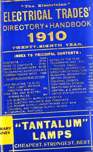 The Electrician Electrical Trades Directory and Handbook PDF