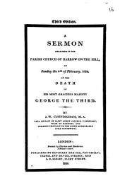 A sermon [on 1 Chron. xxix, 28] preached in ... Harrow on the hill on ... the 6th of February, 1820, on the death of ... George the third