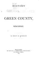 History of Green County  Wisconsin PDF