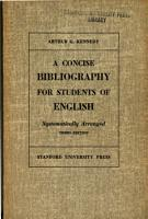 A concise bibliography for students of English   systematically arranged PDF